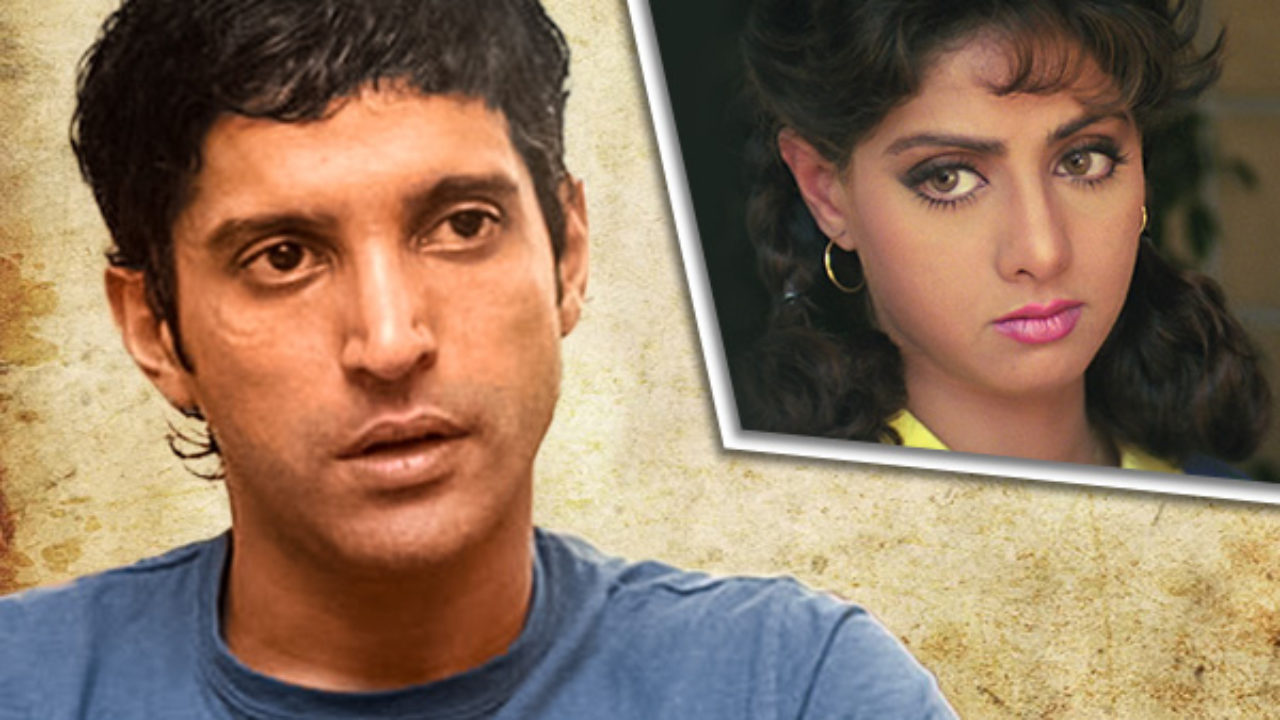 When farhan akhtar got scared by Sridevi but she saved his career from being cut short.