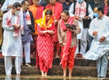 Priyanka Gandhi Reaches Assam; Starts 2-Day Trip With Visit To Kamakhya Temple