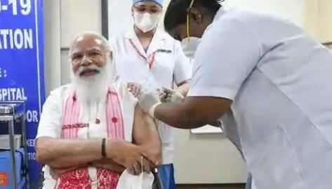 PM Modi gets first dose of Covid-19 vaccine Covaxin at AIIMS Delhi