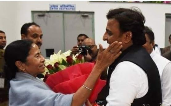 SP Supremo Akhilesh yadav congratulate the TMC and Mamta didi and public of west bengal for this superb reply to the BJP
