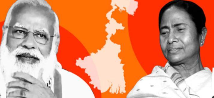 TMC ahead of BJP in west bengal election