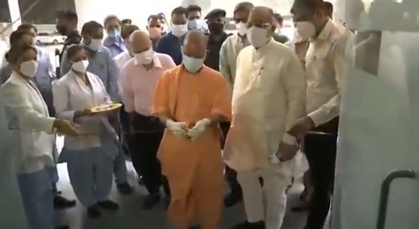 CM Yogi inspects covid ward of Cancer Hospital, Lucknow, admission of patients will start from today