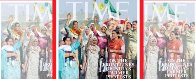 International magazine TIME dedicates its cover to women leading India's farmer protests
