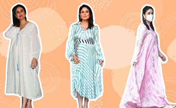 Fashion Kareena Kapoor Khan's Maternity Wardrobe Is Full Of Flowy And Oversized Dresses.
