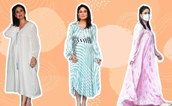 Fashion Kareena Kapoor Khan's Maternity Wardrobe Is Full Of Flowy And Oversized Dresses.