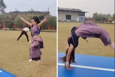 Gymnast Parul Arora has become an Internet sensation