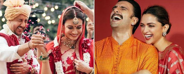 Dia Mirza's Banarasi wedding saree is similar to Deepika Padukone's Diwali 2020 saree