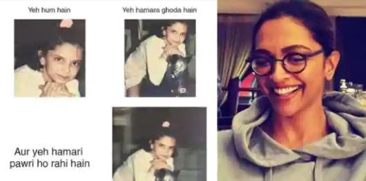 Deepika joins Pawri Hori Hai trend, shares fan-made childhood pic