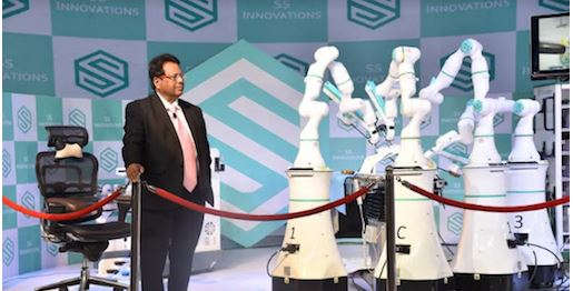 """Robotics shall be the future of surgery, Dr. Sudhir  P. Srivastava and his team launched First Medical Robotics Surgery System of south asia"