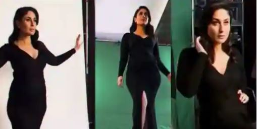 Kareena Kapoor is all about style and glamour in an all-black photo shoot. Watch