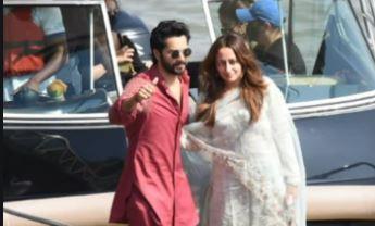 Varun Dhawan looks superb in maroon kurta set as he reaches Mumbai with wife