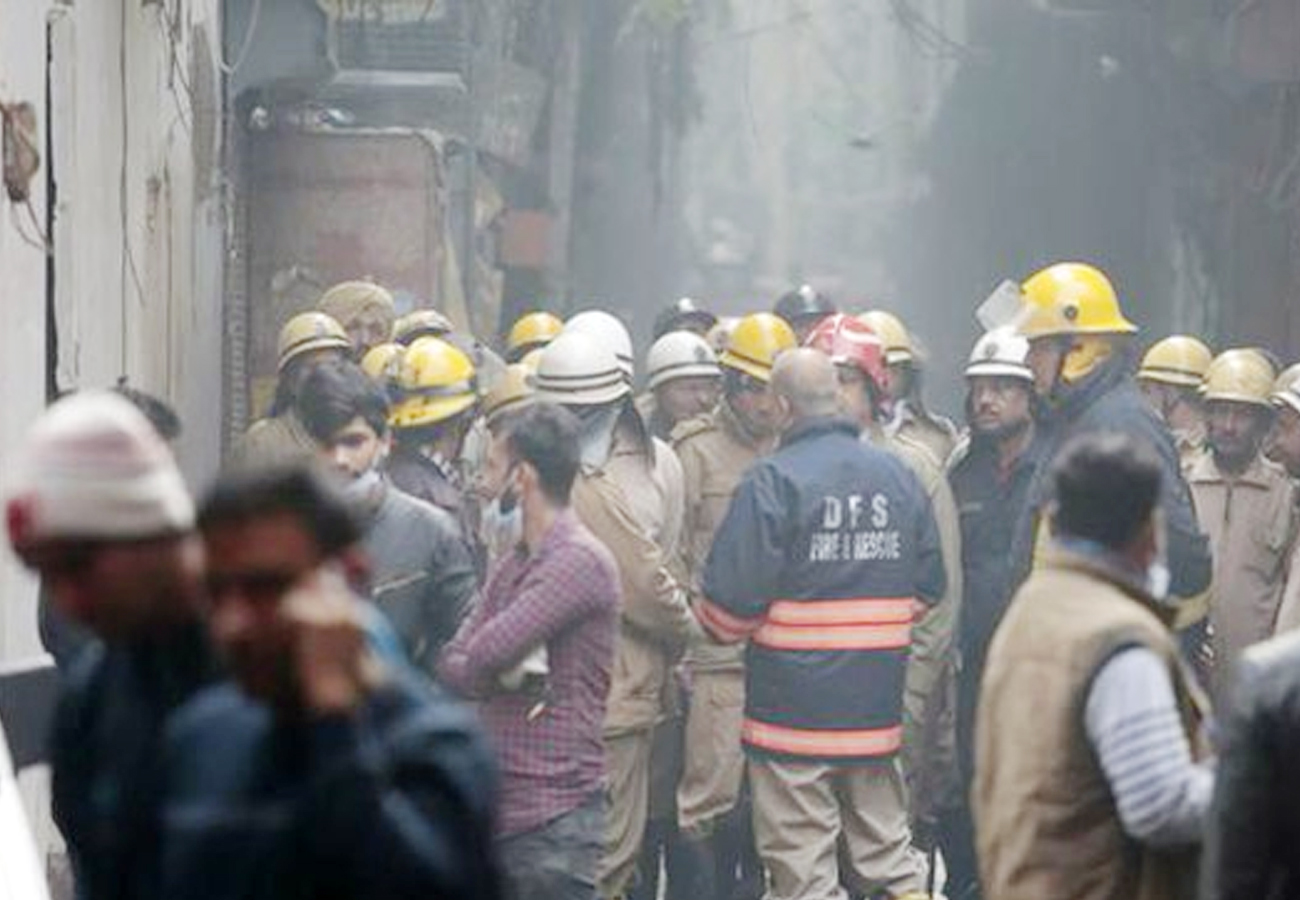 Delhi: 43 Dead In Fire At Luggage Factory , CM Kejriwal Visits Site