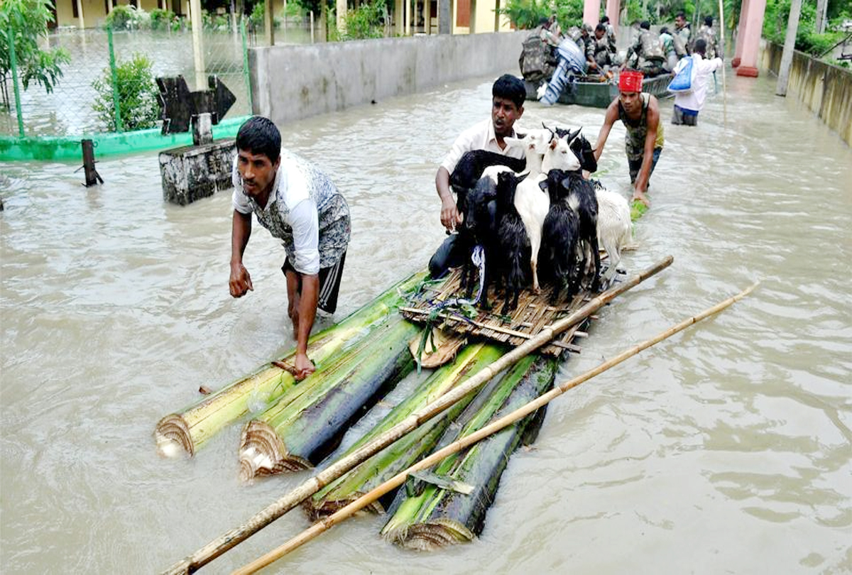 Floods reached 8.6 lakh in Assam