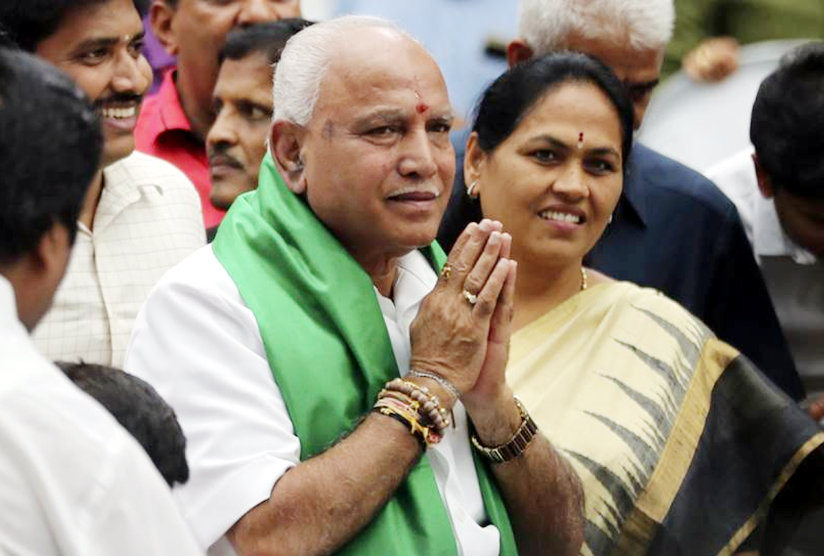 Yediyurappa takes charge yet again in Karnataka
