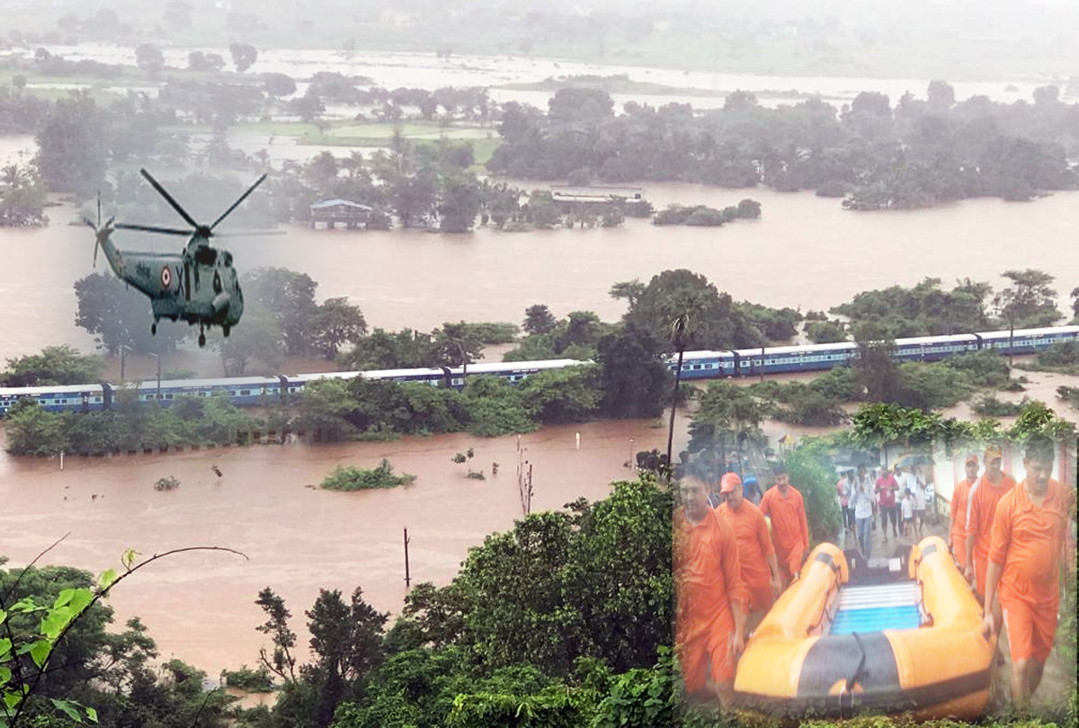 Mahalaxmi Express: NDRF team, Navy helicopter, divers on site to rescue 700 stranded passengers