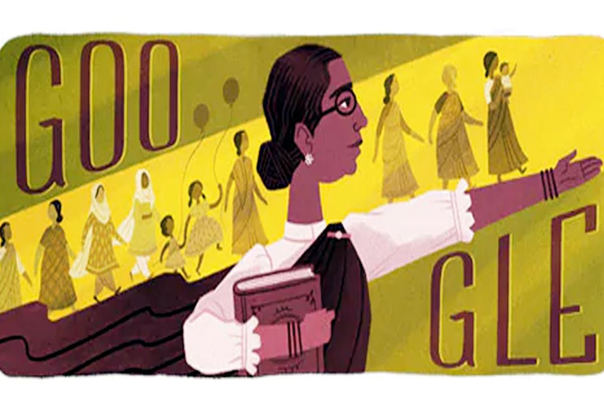 Hospital Day: Google Doodle celebrates India's first woman legislator on  birthday