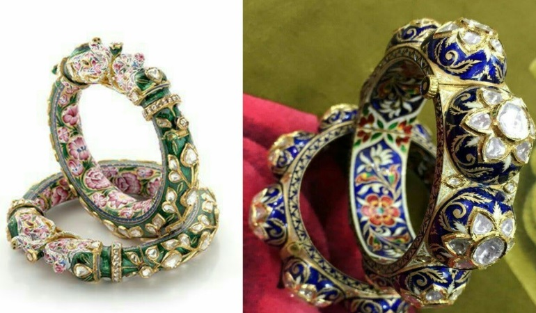 Jaipuri hand painted jewelery becoming a special choice for women