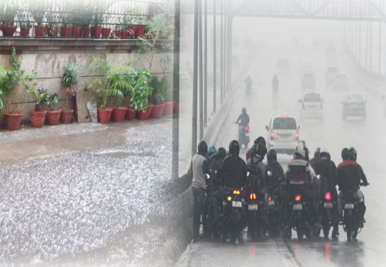 Rain and hailstorm activity in Delhi-NCR