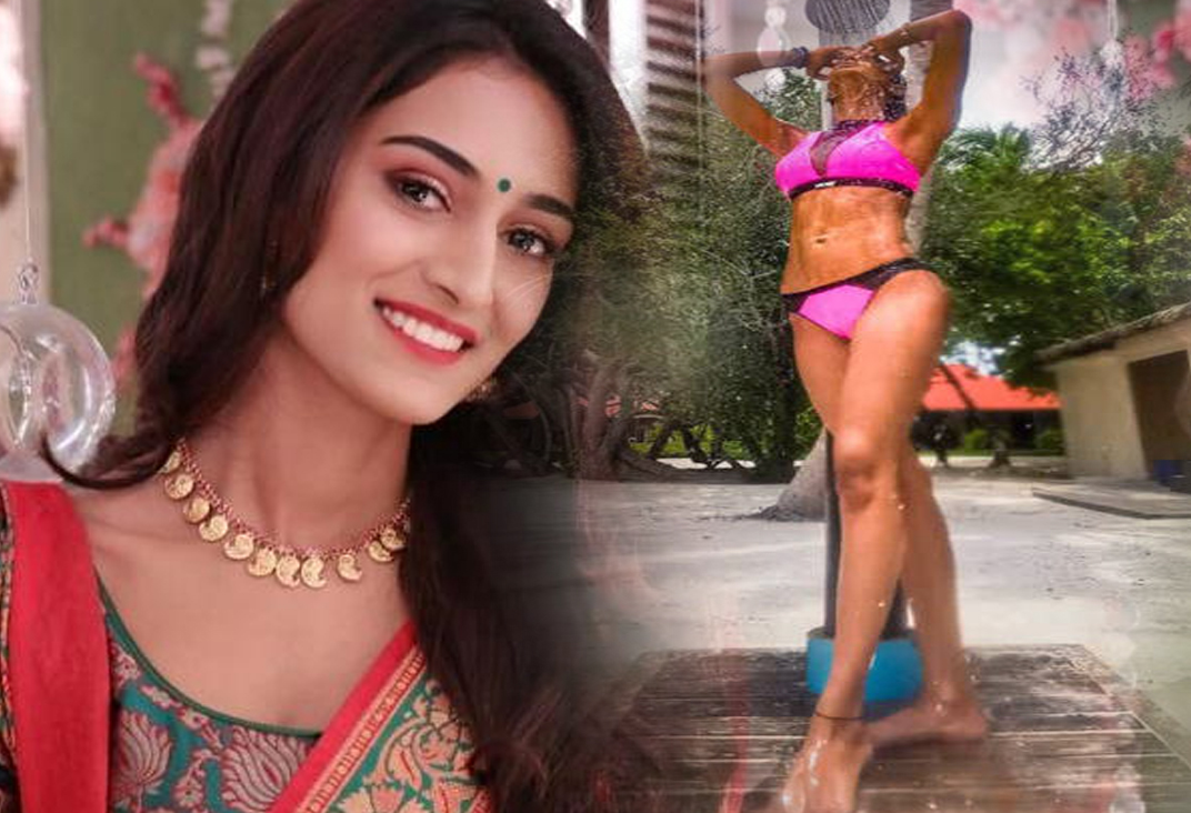 Erica Fernandes raises the temperature in a swimwear