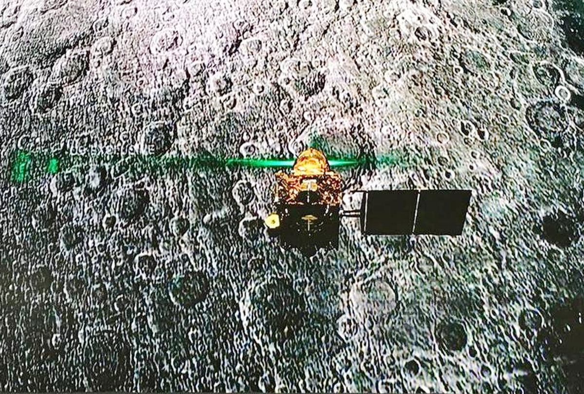 Chandrayaan 2 orbiter 'sights' Vikram lander on moon